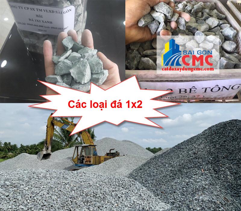 Các loại đá 1x2 phổ biến trên thị trường hiện nay