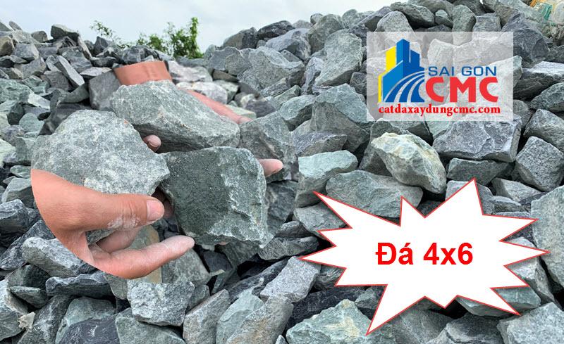 Đá 4x6 có kích thước 4x6 cm và đều nhau, thường dùng đổ sàn, nền móng...