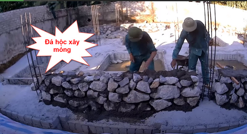 Đá hộc xây móng nhà