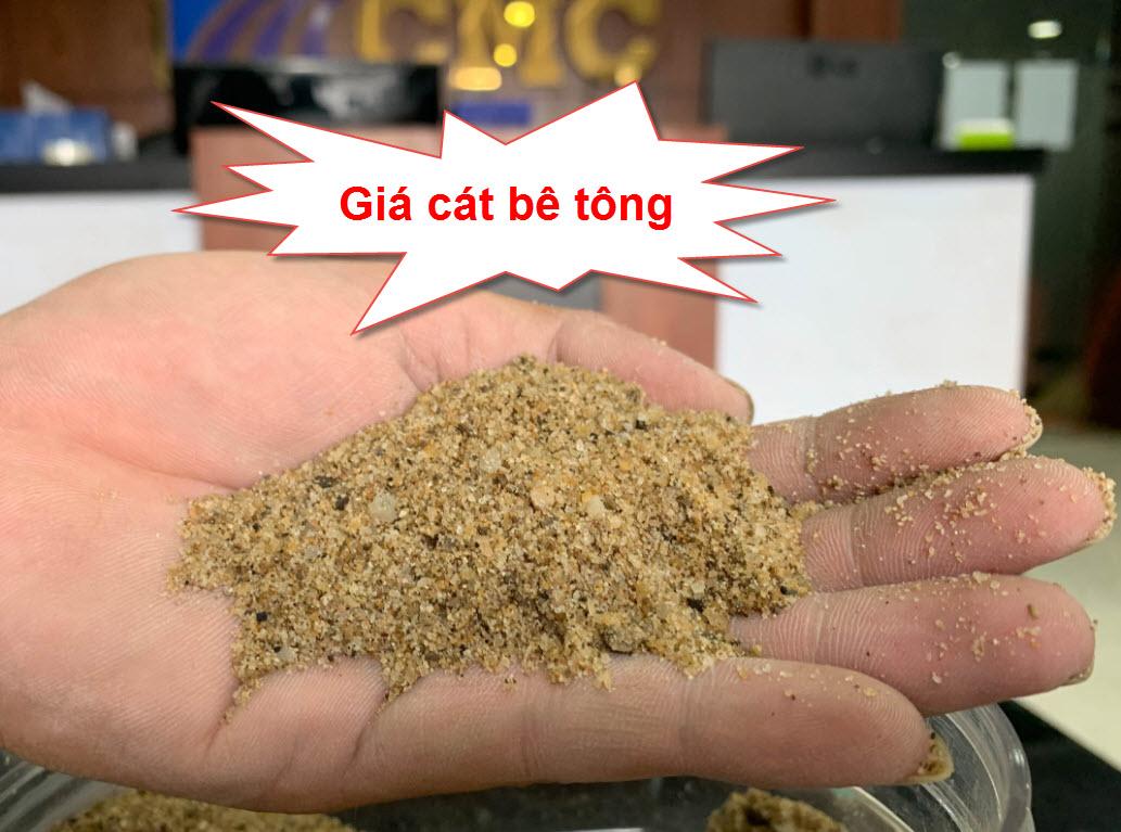 Giá cát bê tông tại tphcm