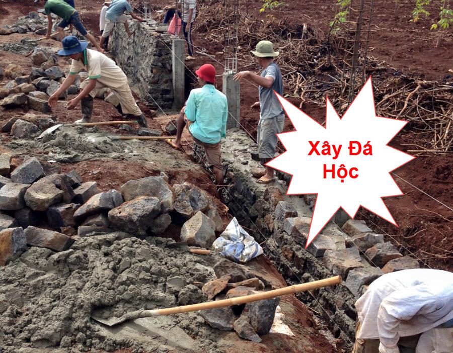 Biện pháp xây kè đá hộc
