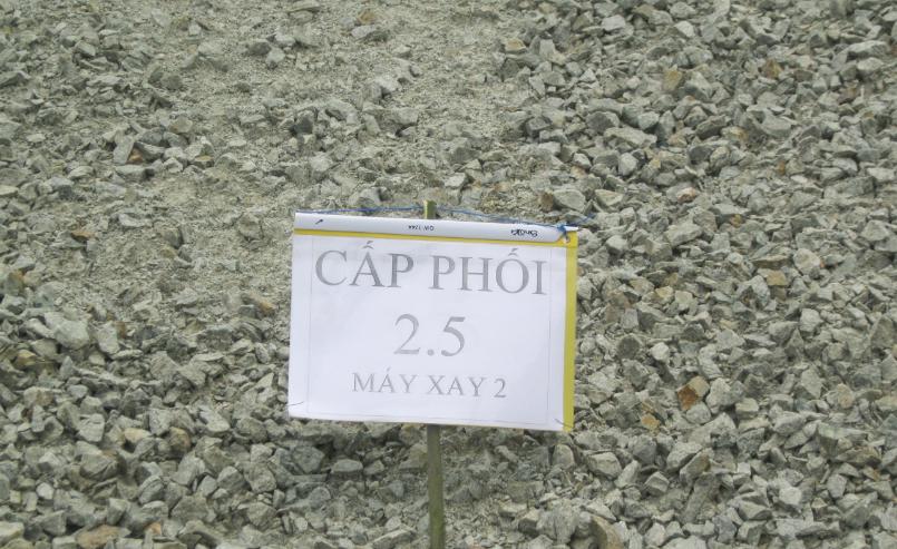 Cấp phối đá dăm kích thước tối đá 2.5 cm