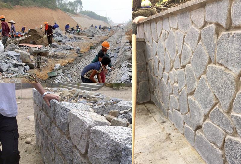 Công tác xây đá hộc gồm nhiều loại như xây móng, xây tường và kè đá hộc