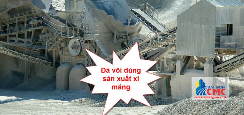 Sử dụng đá vôi trong sản xuất xi măng