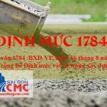 Định Mức 1784 Là Gì? Định Mức Vật Tư Trong Xây Dựng