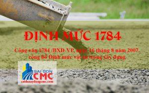 Định mức 1784 - định mức vật tư trong xây dựng