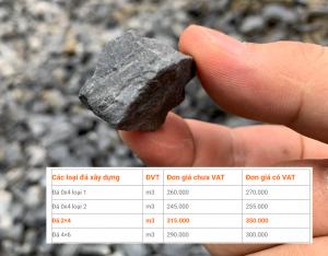 Giá đá 2x4 mới nhất tại tphcm