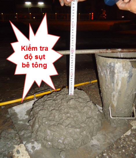Kiểm tra độ sụt bê tông là khâu quan trọng và cần thiết