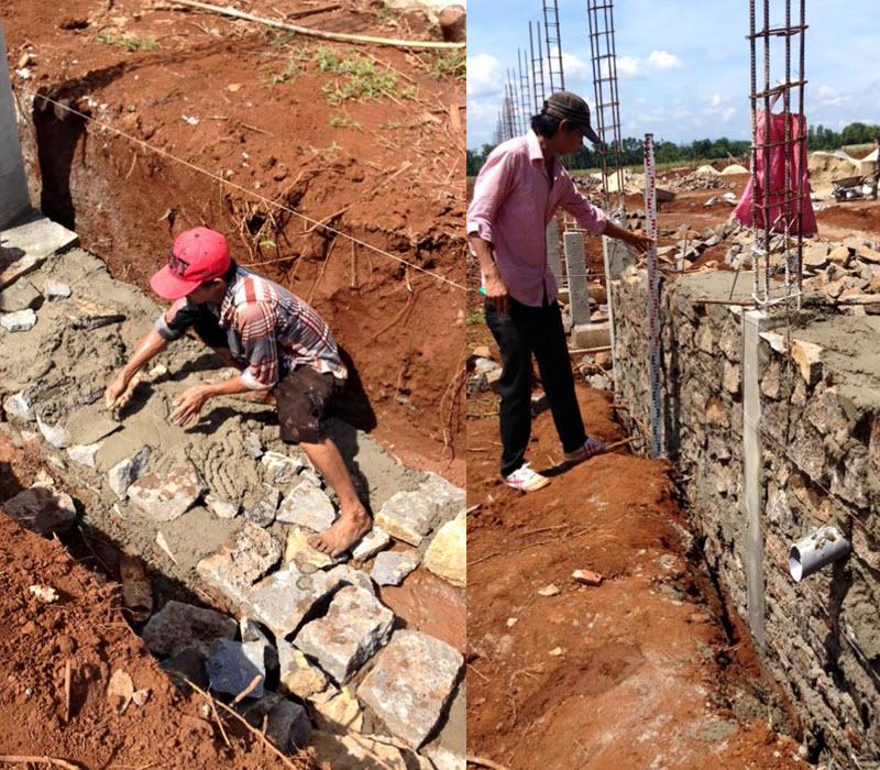 Kỹ thuật xây móng đá hộc