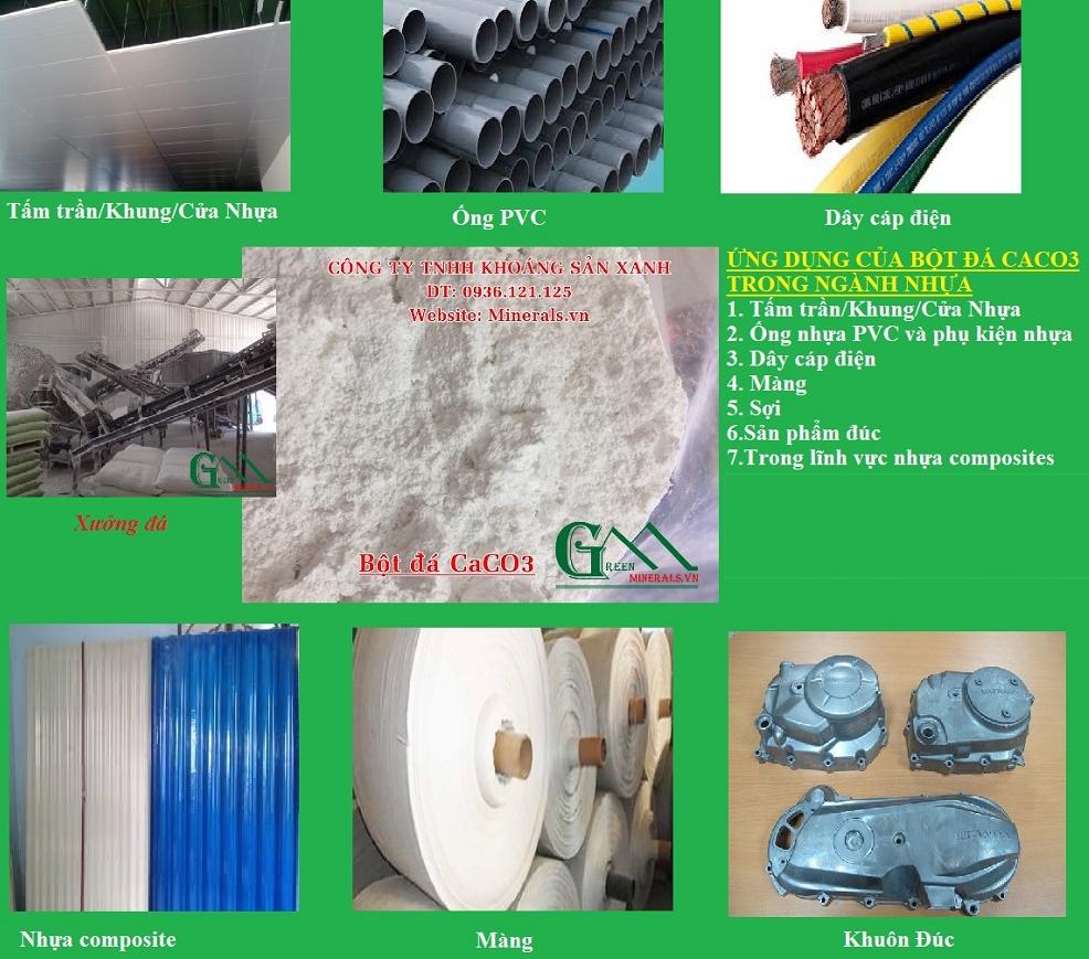 Ứng dụng của bột đá trong ngành nhựa