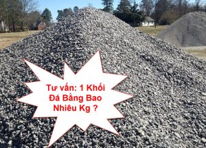 1 khối đá bằng bao nhiêu kg