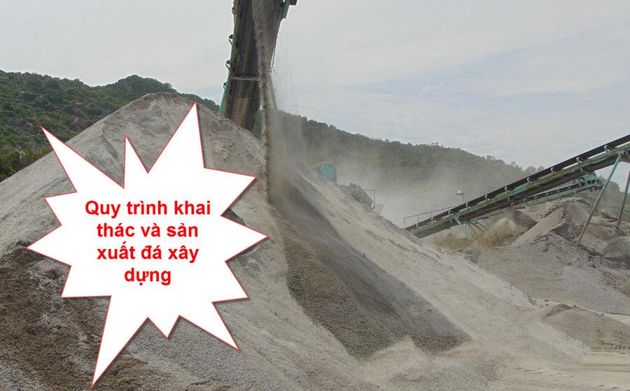 Quy trình sản xuất đá xây dựng