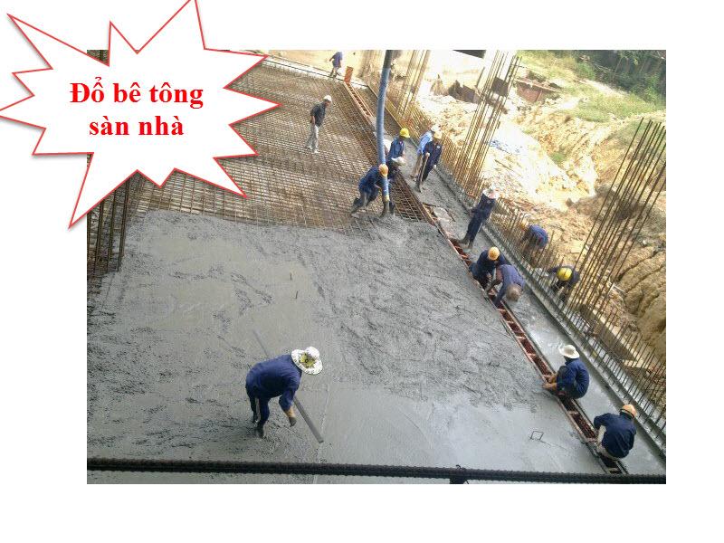 1 khối bê tông đổ được bao nhiêu mét vuông sàn nhà