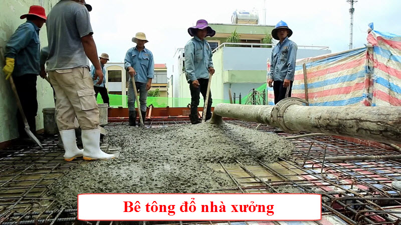 Chi phí 1 khối bê tông đổ được bao nhiêu mét vuông nhà xưởng