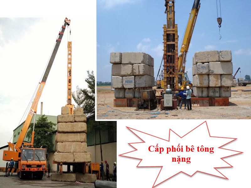 Những loại nguyên liệu nào được sử dụng trong cấp phối bê tông nặng