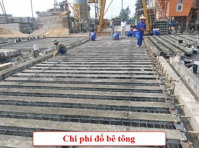 Chi phí để đổ bê tông nhà xưởng phụ thuộc vào tổng diện tích cần thi công