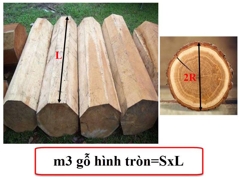 Cách tính m3 gỗ hình tròn