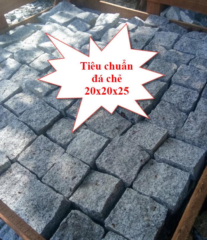 Tiêu chuẩn đá chẻ 20x20x25 trong xây dựng