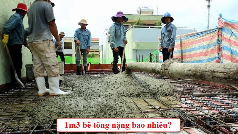 Trong xây dựng 1 khối bê tông được xác định nặng khoảng 2,4 tấn